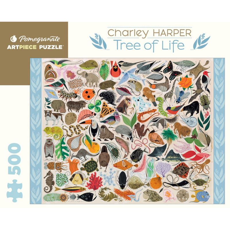 Charley Harper: Tree of Life 500 Piece Puzzle,AA708