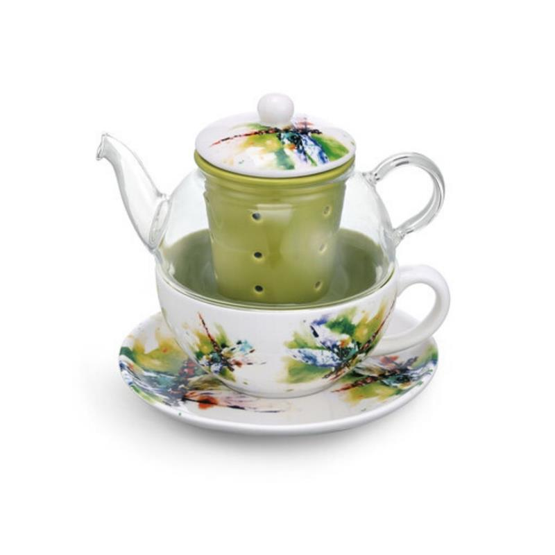 Dragonfly Tea Pot Set