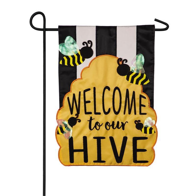 Welcome To Our Hive Garden Flag,169006
