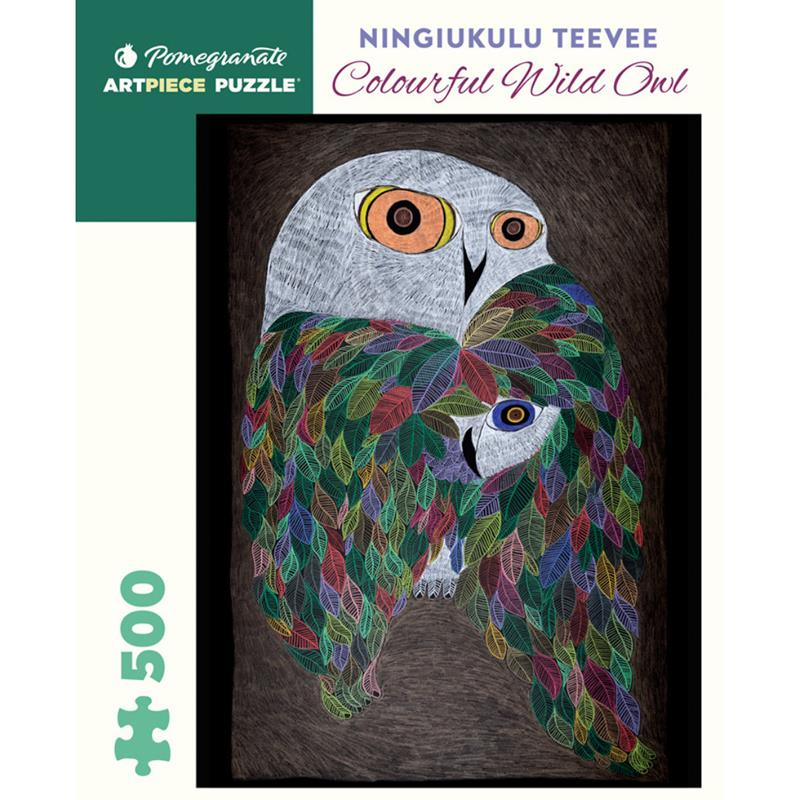 Colourful Wild Owl 500 Piece Puzzle,AA969
